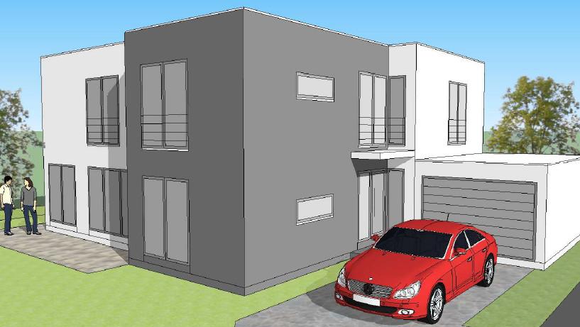 eine bauhausstil villa der arge haus rhein ruhr gmbh entsteht in dinslaken arge haus hausbau. Black Bedroom Furniture Sets. Home Design Ideas